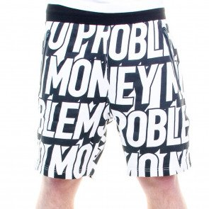 Kraťasy Cayler & Sons BLLB Mo Money Sweatshorts Black White