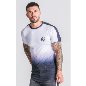 Gianni Kavanagh Fade White Tee With Black Details