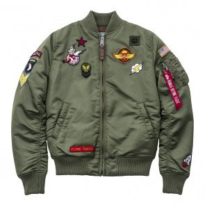 Dámska bombera Alpha Industries Ma-1 Vf Patch Sage Green