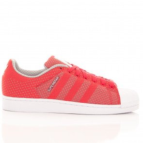 Tenisky Adidas Originals Superstar Weave Red Grey White
