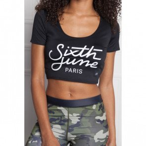 Crop top tričko Sixth June Sport Black