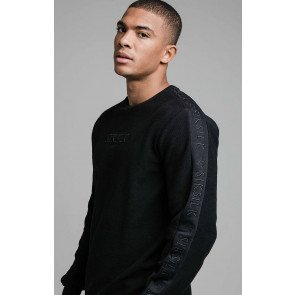 SIKSILK L/S LOOP BACK EMBROIDERED SWEATER