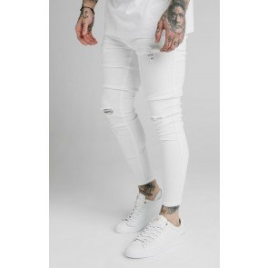 SIKSILK SKINNY DISTRESSED DENIM