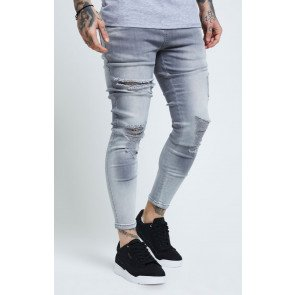 SIKSILK DISTRESSED SKINNY JEANS