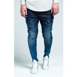 Jeans SikSilk Denim Cargo Blue Stonewash