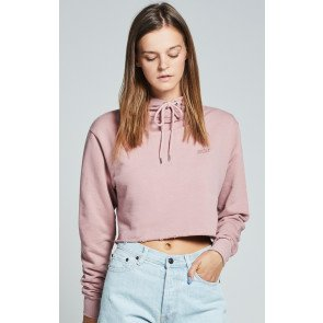 Crop Top Mikina SikSilk Cropped Raw Edge Pale