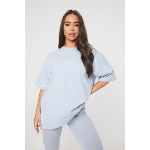 ESSENTIAL OVERSIZED BABY BLUE T-SHIRT