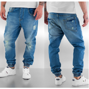 Nohavice Dangerous DNGRS Seano Antifit Jeans Blue