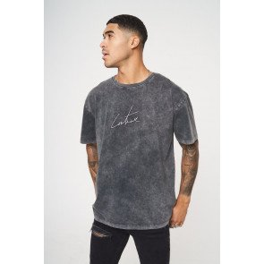 RELAXED FIT BACK EMBROIDERY T-SHIRT