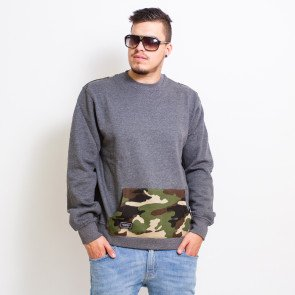 Crewneck Backyard Cartel Woodland Back Crew Grey Camo