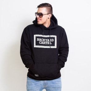 Mikina Backyard Cartel Label Logo Hoody Black