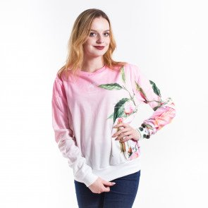 Crewneck Hype Glitched Flower Pink Multi