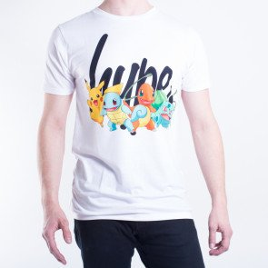 Tričko Hype X Pokemon Baby Squad Mens White