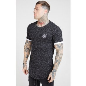 SIKSILK S/S RIB KNIT FLECK TECH TEE