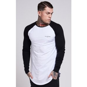 Tričko Illusive London Contrast Sleeve White Black