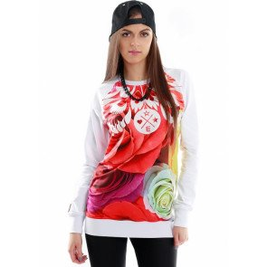 Crewneck Endorfina BDL Flowfolk White