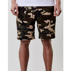 Kraťasy C&s BL New Age Velourshorts Camo Green