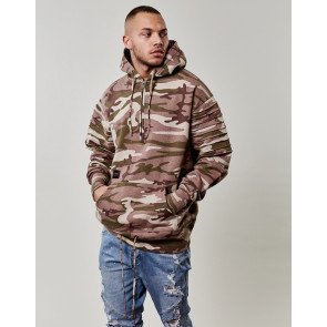 Mikina C&s BL Pleated Loose Fit Camo Beige