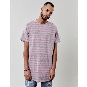 Tričko C&s BL Striped Scallop Pink Grey