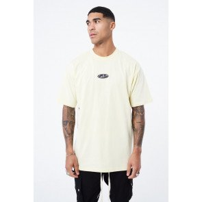 RUBBER BADGE DEFINITION GRAPHIC OVERSIZED T-SHIRT