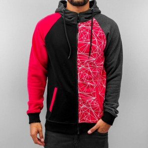 Mikina Just Rhyse Lines Zip Hoody Black