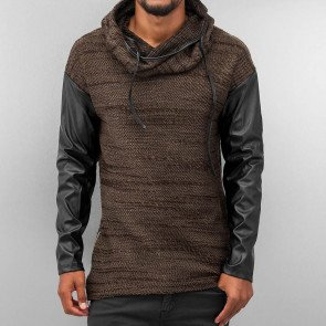 Mikina Bangastic Rollneck Brown Black