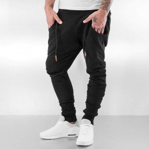 Tepláky Bangastic Thick Drawstring Sweat Pants Black