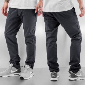 Nohavice Cazzy Clang Basic Chino Pants Dark Grey