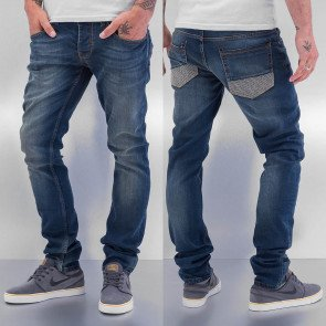 Nohavice Jeans Cazzy Clang Suture Blue