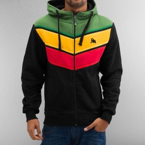 Mikina Dangerous DNGRS Three Tone Zip Hoody Jet Black Treetop Gold Fusion Chinese Red