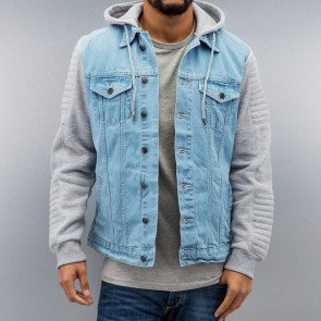 DANGEROUS DNGRS DENIM SWEAT JACKET LIGHT BLUE