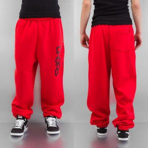 DANGEROUS DNGRS SWEAT PANTS FIERY RED/JET BLACK