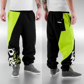 Tepláky Dangerous DNGRS Santiago Sweat Pants Black/lime Green