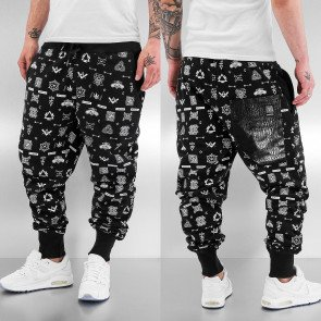 Tepláky Dangerous DNGRS All Over Sweat Pants Black