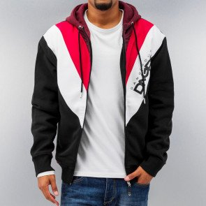 Mikina Dangerous DNGRS Arrowhead Zip Hoody Black/red/white