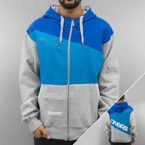 Mikina Dangerous DNGRS Three Tone Zip Hoody Grey Blue