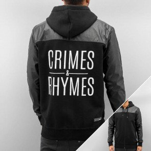 Mikina Dangerous DNGRS Crimes & Rhymes Zip Black