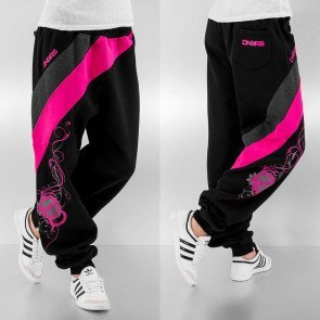 Tepláky Dangerous DNGRS Skull Sweat Pants Black Pink