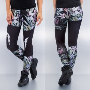 Tričko Just Rhyse Plants Leggings Black