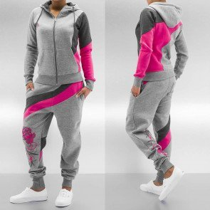 Mikina Just Rhyse Roses Suit Grey/pink