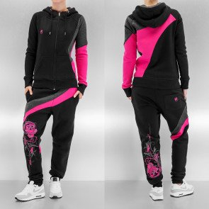 Mikina Just Rhyse Two Tone Suit Black Pink