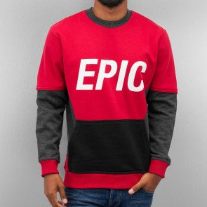 Mikina Just Rhyse Epic Sweatshirt Red Grey