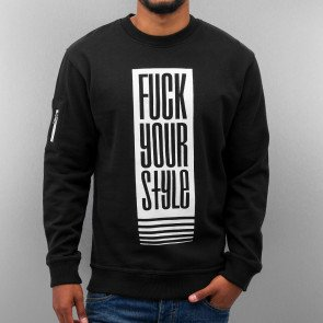 Mikina Just Rhyse Fuck Your Style Sweatshirt Black