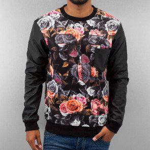 Mikina Just Rhyse Rose Sweatshirt Black