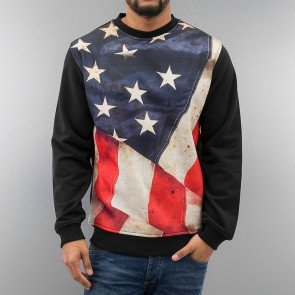 Mikina Just Rhyse USA Sweatshirt Black