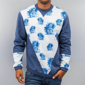 Mikina Just Rhyse Palms Sweatshirt Blue