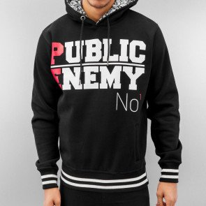 Mikina Just Rhyse Public Enemy Hoody Black