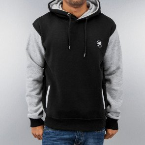 Mikina Just Rhyse 2 Tone Time Hoody Black Grey Melange