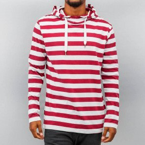 Mikina Just Rhyse Stripes White Red