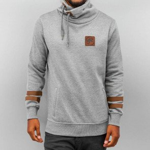 Mikina Just Rhyse Roll Neck Grey Melange